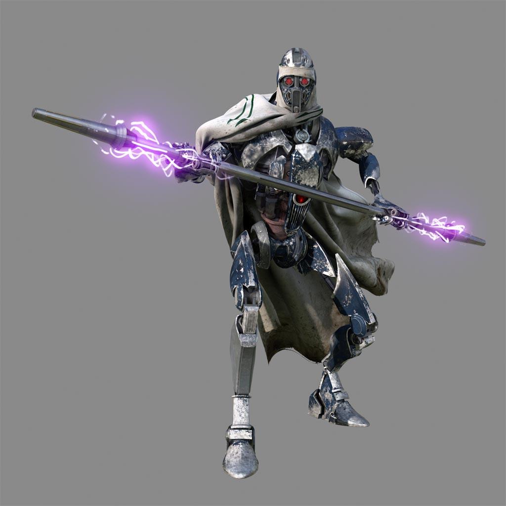 Gratis Kleurplaten Star Wars.Custom White Magna Guard Droid